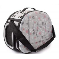 Mumoo Bear Grey Pet Dogs and Cats Travel Bag Soft EVA Portable Foldable Pet Bag M Sizes Breathable Outdoor Carrier Pet Bag