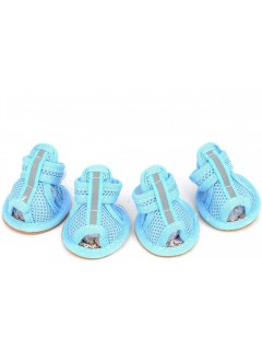 Mumoo Bear Summer Puppy Dog Shoes with Soft Rubber Sole for Hot Pavement- Non-Slip Paw Protector for Small Dog