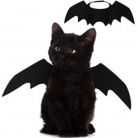 Mumoo Bear Cat Costume Halloween Bat Wings Pet Costumes Pet Apparel for Small Dogs and Cats