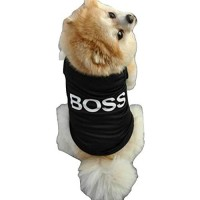 Mumoo Bear Dress Clothes BOSS Shirt Vest Costume for small Dog Puppy Cat Fancy Paws - Size S