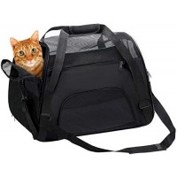 Mumoo Bear Black Pet Carrier Soft Sided Travel Bag Airline Approved For Cats & Dogs, Large
