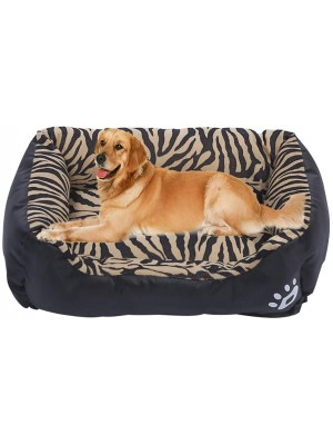 Gluckluz Dog Bed XL Pet Cat Cushion Kennel Sofa Lounger Couch Washable Extra Large Size for Small Medium Large Puppy Kitten Outdoor Indoor Dogs Cats (Black, Rectangle)
