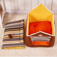Mumoo Bear Cute House Dog Bed Pet Bed Warm Soft Dogs Kennel Dog House Pet Sleeping Bag Cat Bed Cat House, Coffee