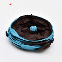4 Way Crinkle Cat Tunnel Toy Paper Collapsible Tube Three Connected Run Road Way Tunnel Catnip House with Fun Ball