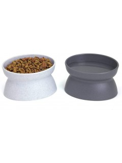 Mumoo Bear Raised Cat Food Bowl Collection, Stress Free Pet Feeder and Waterer