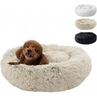 """Mumoo Bear Fluffy Luxe Pet Bed for Dogs & Cats, Beige - 23"""""""