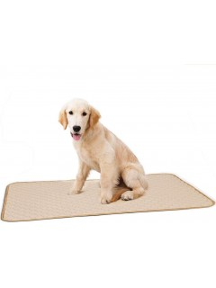 Mumoo Bear Washable Large Pee Pads for Dogs, Dog Training Puppy Wee Whelping Pad for Home Apartment Travel, Beige